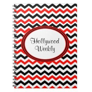 Red Black And White Chevron