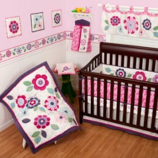 Sumersault Daniela 4 Piece Crib Set   Baby Bedding