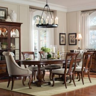 Furniture Margaux 7 piece Double Pedestal Dining Set with Host