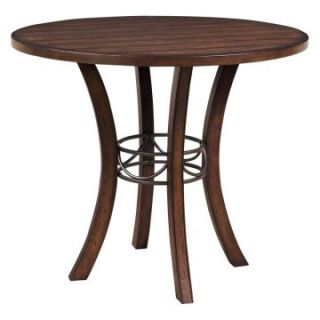 Hillsdale Cameron Round Wood with Metal Ring Counter Height Table