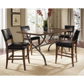 Hillsdale Cameron 5 Piece Counter Height Rectangle Wood Dining Table