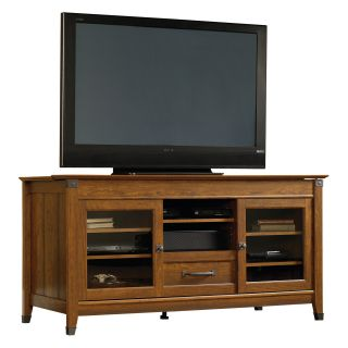 Sauder Carson Forge Entertainment Credenza   Washington Cherry   TV