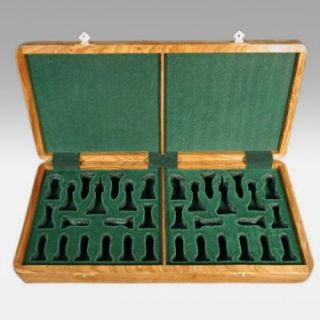Luxury Wooden Chess Box   4 In. King   Chess Accessories