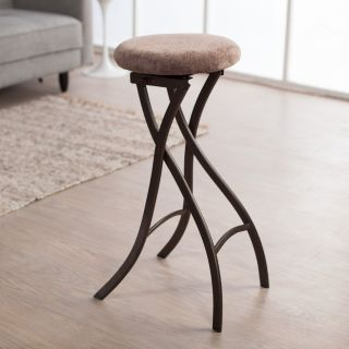Innobella Destiny 29 in. Backless Folding Bar Stool in Brownstone   2