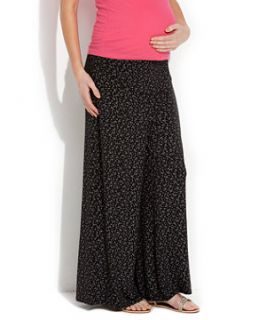 Black (Black) Heavenly Bump Ditsy Print Palazzo Trousers  257571301