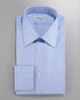Stefano Ricci Basic Barrel Cuff Dress Shirt, Blue