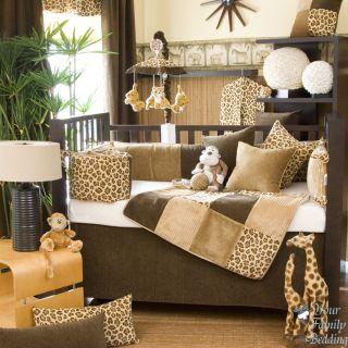 Glenna Jean Baby Boy Girl Leopard Animal Print Crib Nursery Bedding Quilt Set