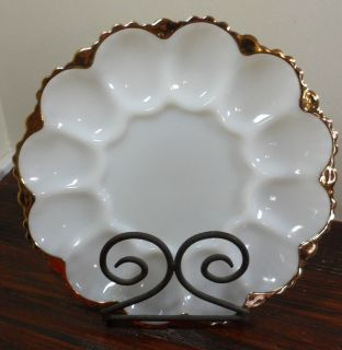 fire king milk glass snack plate