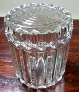 Vtg Anchor Hocking Fostoria Crystal Glass Lidded Cigarette Holder Box Ashtray