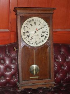Antique Seth Thomas 31 Day Calendar Pendulum Wall Clock Single Spring