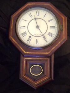 "Antique Seth Thomas Regulator Wall Clock Pendulum 32"" Tall"