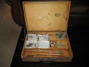 Vintage Anco Bilt Artist's Wooden Painting Supply Box