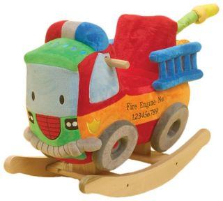 Rockabye Blaze Fire Truck Rocker Baby Rocking Horse Children's Ride 0N Toy New