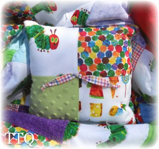The Very Hungry Caterpillar Chenille Minky Baby Boy Girl Crib Quilt Bedding Set