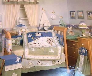 Neutral Baby Boy Girl Kids Line Clover Fields 14 PC Crib Bedding Set Collection
