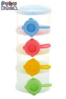 Puku Petit Baby Milk Powder Container 4 Separable Layers Night and Travelling