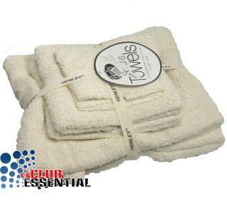6pc 100 Cotton Towel Gift Set Face Hand Bath Towels Grey Cream Caramel