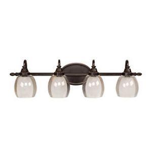 Allen Roth 4 Light Bronze Bathroom Vanity Light VB316 4WDBZ New