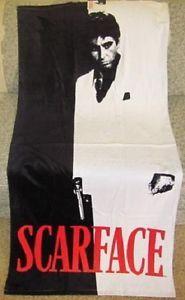 New Scarface Silhouette Tony Montana Beach Bath Gift Towel Money Power Novelty