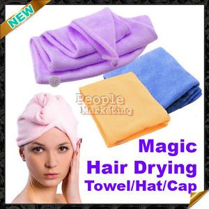 Fast Dryer Turban Hair Drying Towel Microfibre Bath P1