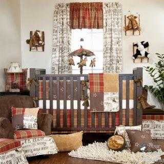 Glenna Jean Baby Boy Cowboy Horse Western Crib Nursery Room Bedding Quilt Set