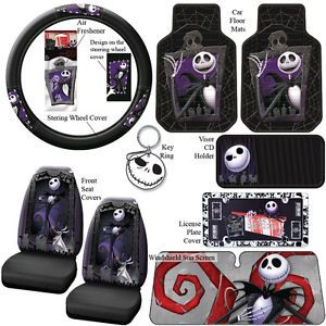nightmare before christmas car steering wheel cover accessories seat covers key - Nightmare Before Christmas Steering Wheel Cover