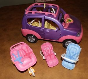 Fisher Price Loving Family Dollhouse SUV Car Stroller Car Seats Works