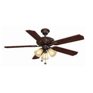 Hampton Bay Glendale 52 in Ceiling Fan with Light Kit Oil Rubbed Bronze 161 646