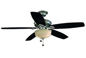 Hampton Bay Sibley 52 inch Ceiling Fan with Light Kit Cambridge Silver Finish