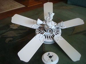 White Ceiling Fan Arm Lot Of 5 Replacement Blade Paddle