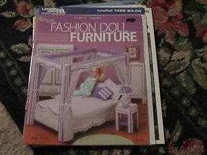 Plastic Canvas Fashion Doll Furniture for Dream House Furniture Set 28 Pages
