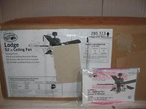"""New Hampton Bay Lodge 52"""" Ceiling Fan with Deer Antler Light Kit Remote Contr"""
