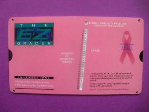 Pink EZ Easy Grader Grading Chart Teacher Supplies New