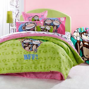 Monkey Twin Comforter Set Girls New Bedding