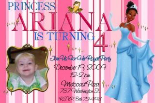 The Princess and The Frog Birthday Invitations Photo
