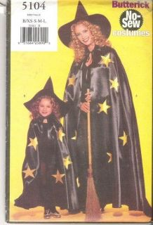 Butterick Kids Halloween Costume Sewing Pattern Uncut Boys Girls Child