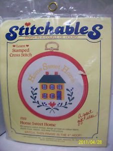 Dimensions Stamped Cross Stitch Kit Home Sweet Home NIP