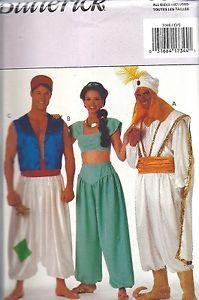 Uncut Butterick Vintage Sewing Pattern Halloween Costume Genie Alladin Sultan FF
