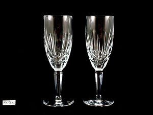 Waterford Crystal Glass Kildare Champagne Flutes Glasses