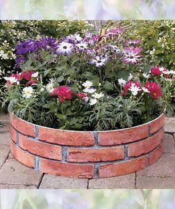 Red Brick Look Growrings Garden Yard Outdoor Decor