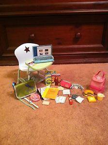 American Girl Doll School Set Desk Laptop Lunch Box Retainer Christmas