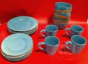 ... 16 Piece Tag 556109 Sonoma Dinnerware Set Slate Blue Ironstone ... & Corelle 36 Piece Outer Banks Lighthouse Dinnerware Set Dishes Bowls ...