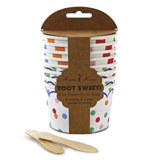Meri Meri TOOT Sweet Spotty Party Paper Cups Plates Napkins or Party Bags