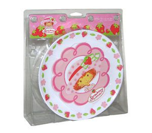 Strawberry Shortcake Plate Bowl Cup Dinnerware Gift Set