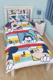 Disney Mickey Mouse Single Duvet Quilt Cover Set Kids Bedding Bed Sets