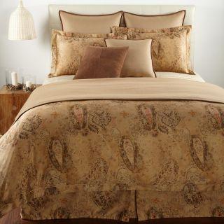 Ralph Lauren Verdonnet King Comforter Paisley Camel Floral