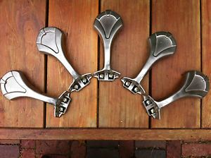 Nice ... Hunter Brand Ceiling Fan Blade Mounts Paddle Arms 5 Brushed Nickel Lot  2 ...