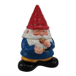 Darling Garden Gnome Ceramic Cookie Jar