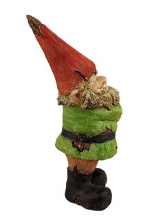 Not Listening Wooden Look Laughing Garden Gnome Statue