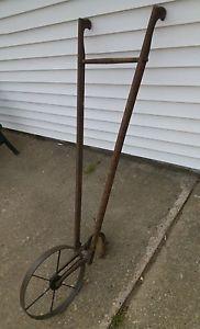 Antique Planet Jr USA Hand Push Plow Cultivator Garden Decor Farm Tool